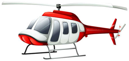 Illustration pour Illustration of a helicopter flying on a white background - image libre de droit