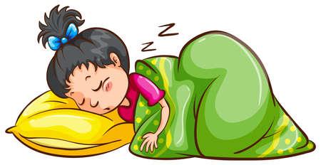 Illustrazione per Illustration of a girl sleeping - Immagini Royalty Free