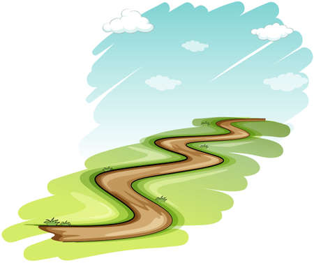 Illustration for A pathway on a white background - Royalty Free Image