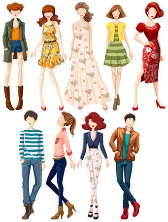 Illustrazione per Fashion design for man and woman - Immagini Royalty Free