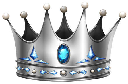 Illustration for Silver crown on white illustration - Royalty Free Image