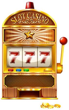 Illustration pour Slot machine with lucky seven illustration - image libre de droit