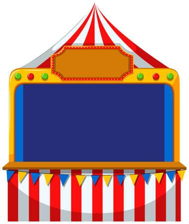 Illustration pour Game border at the tent illustration - image libre de droit