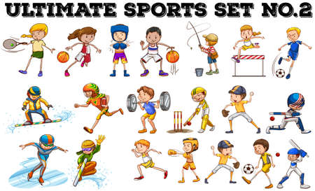 Ilustración de Different kind of sports  illustration - Imagen libre de derechos
