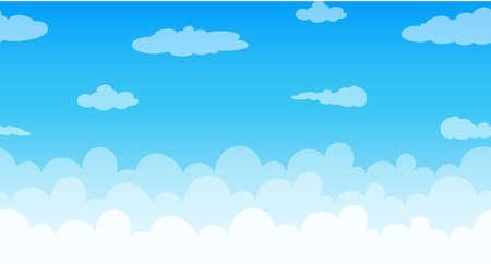 Illustration pour Seamless clouds floating in the sky illustration - image libre de droit
