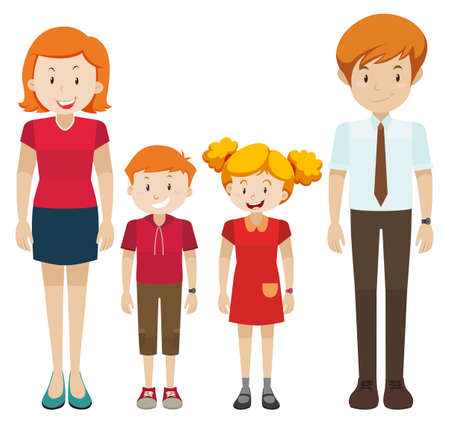 Illustration pour Family with parents and children illustration - image libre de droit