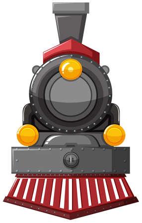 Illustration pour Steam engine in gray color illustration - image libre de droit