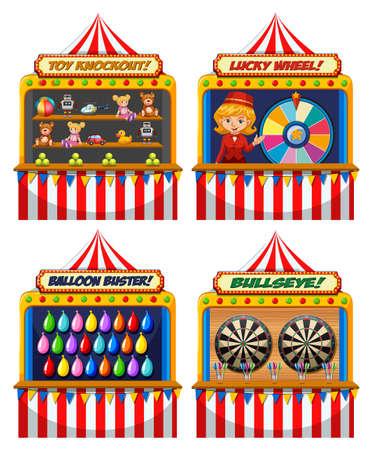 Illustration pour A Set of Fun Fair Tent  illustration - image libre de droit