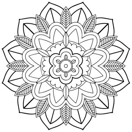 Ilustración de Mandala pattern design on white background illustration - Imagen libre de derechos