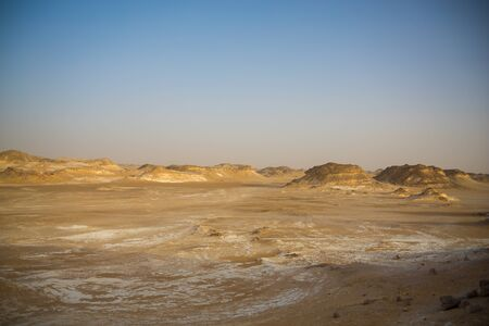 Photo for Egypt Baihaliya Oasis Black and White Desert Scenery - Royalty Free Image