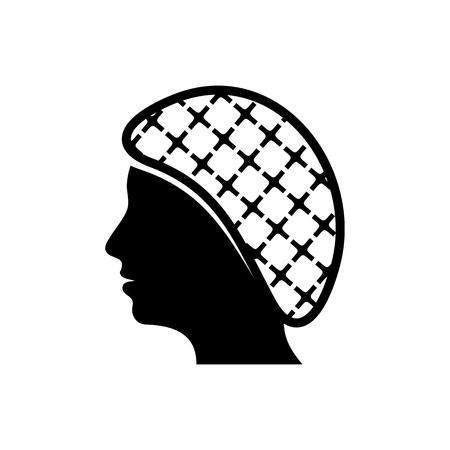 Illustration pour Vector hairnets must be worn icon - image libre de droit