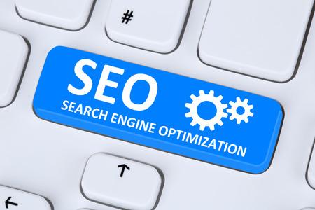 Foto de SEO Search Engine Optimization for websites on the internet on computer - Imagen libre de derechos