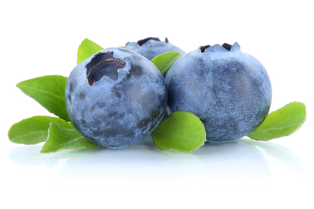 Photo for Blueberry blueberries berry berries isolated on a white background - Royalty Free Image