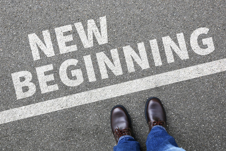 Foto de New beginning beginnings old life future past goals success decision change decide - Imagen libre de derechos