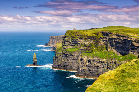 Photo for Cliffs of Moher Ireland travel traveling sea nature tourism ocean Atlantic - Royalty Free Image