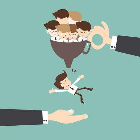 Illustration pour Recruitment concept - Job search and career choice employment concept - image libre de droit