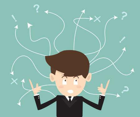 Illustration pour Concept of difficult choices in business - image libre de droit