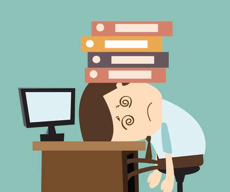 Illustration pour work stress - image libre de droit