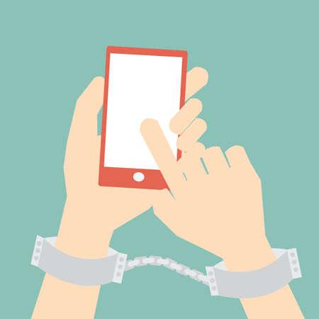 Ilustración de social media ,internet addiction concept - Imagen libre de derechos
