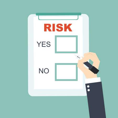 Illustration pour choice to business risk - image libre de droit