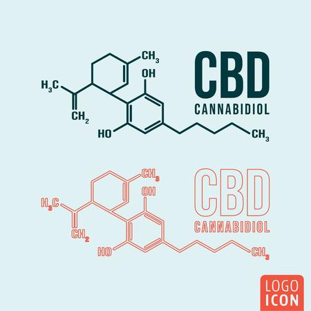 Illustration pour Cannabidiol formula symbol - image libre de droit