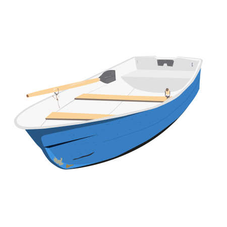 Ilustración de Rowing boat vector illustration of isolated on a white background - Imagen libre de derechos