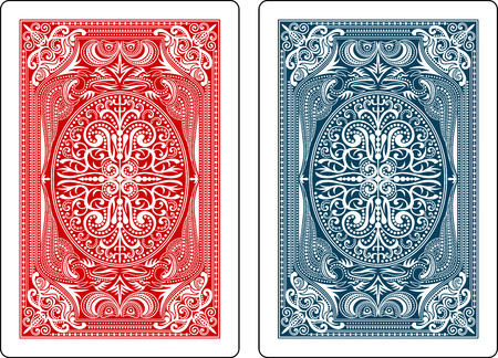 Illustration pour playing cards back side - image libre de droit