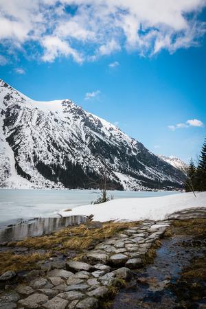 Photo for Path near Morskie Oko in Tatrzanski National Park, Karpaty, Poland - Royalty Free Image