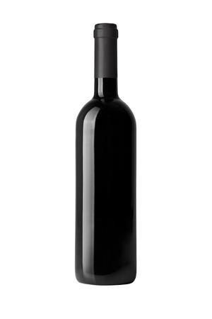Foto de red wine bottle isolated on white - Imagen libre de derechos
