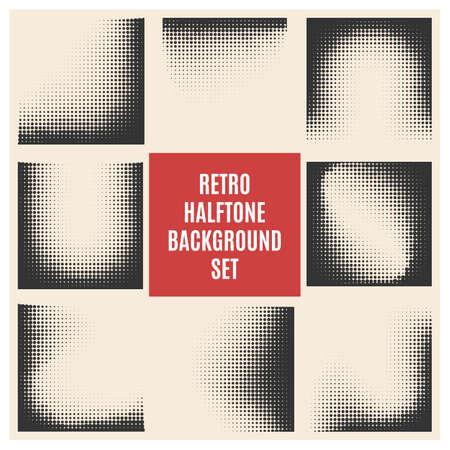 Ilustración de Set of retro halftone backgrounds.Vector ilustration. - Imagen libre de derechos
