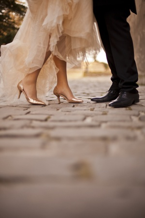 Photo pour Wedding couple - image libre de droit