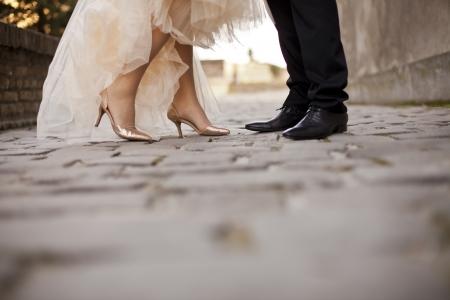 Photo pour Wedding couple - image libre de droit