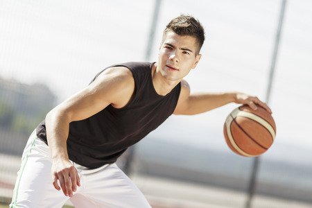 Photo pour Basketball player - image libre de droit