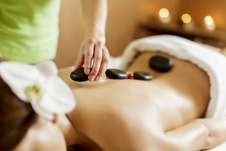 Photo for Hot stone massage therapy - Royalty Free Image