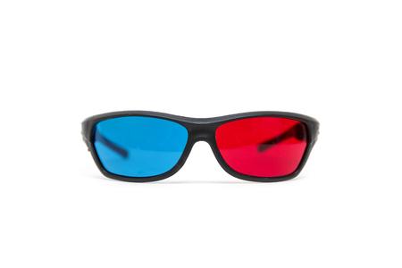Foto de 3D glasses isolated on the white background - Imagen libre de derechos
