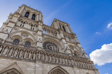 Foto per Detail of the Cathedrale Notre Dame de Paris, France - Immagine Royalty Free