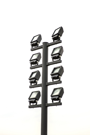 Photo for View at modern floodlights isolated on the white background - Royalty Free Image