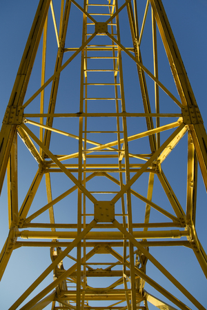 Photo for Closeup detail of the yellow dock crane - Royalty Free Image