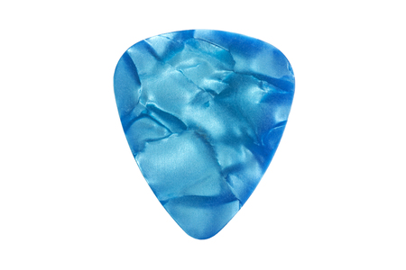 Photo for Colorful guitar pick isolated on the white background - Royalty Free Image