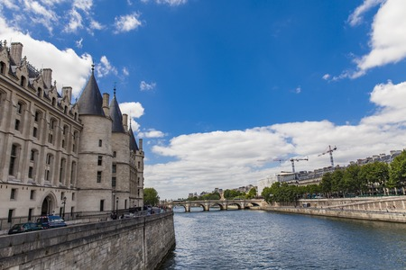 Photo for View at Conciergerie by the Seine river in Paris, France - Royalty Free Image