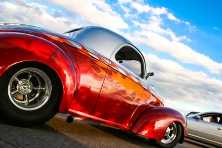 Photo pour DENVER, USA - JUNE 19, 2008: Classic car at Burger King Classic Car show in Denver. Burger King Classic Car shows are free every Thursday night all summer long. - image libre de droit