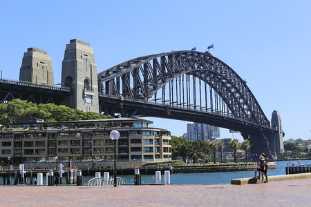 Photo for SYDNEY, AUSTRALIA - FEBRUARY 12, 2015: View at Hotel Park Hyatt Sydney. Hotel have 155 guestrooms, including 11 suites and 28 deluxe rooms. - Royalty Free Image