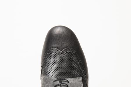 Foto de Closeup detail of the male tango shoes - Imagen libre de derechos