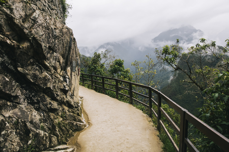Photo for Path to the Machu Picchu Inca citadel in Peru - Royalty Free Image