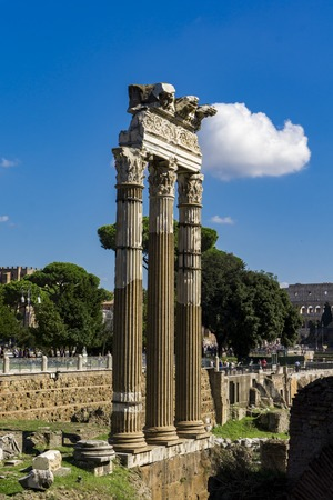 Photo for Remains of Temple of Vesta in Roman Forum in Rome, Italy - Royalty Free Image