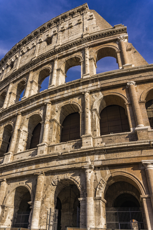 Photo for Detail from the ancient Colosseum in Rome, Italy - Royalty Free Image