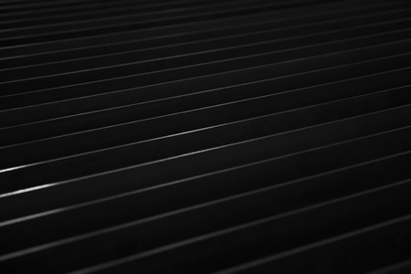 Photo pour Detail of the dark sheet metal backdrop - image libre de droit