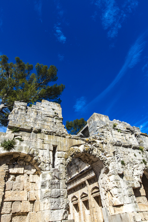 Photo for Remains of ancient Roman temple of Diana in Nimes, France - Royalty Free Image