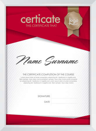 Illustration pour certificate template with clean and modern pattern, Luxury golden,Qualification certificate blank template with elegant,Vector illustration - image libre de droit
