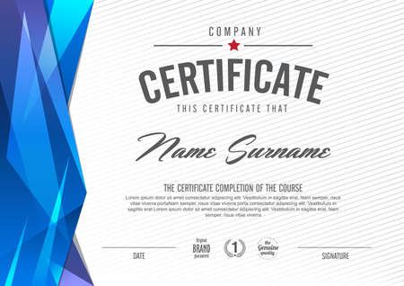 Illustration pour certificate template with clean and modern pattern,Vector illustration - image libre de droit